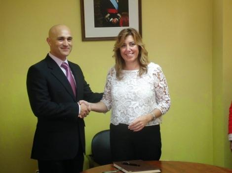 Con Susana Díaz