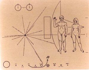 Placa del satélite Pionner