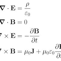 Ecuaciones de Maxwell.