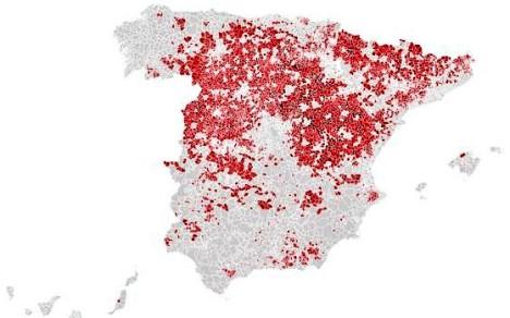 Mapa despoblación