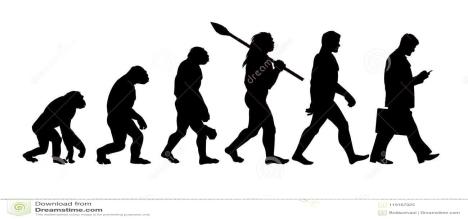teoría-de-la-evolución-silueta-del-hombre-119167025